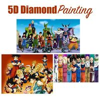 5D Anime Cartoon Dragon Ball Z Design Full Drill Art Diamond Painting DIY Kit