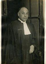 """Maitre FLACH avocat de GUALINO 1931"" Photo originale G. DEVRED (Agce ROL)"