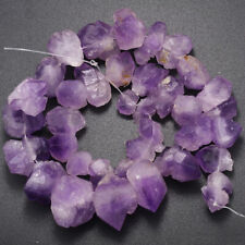 10-22mm Natural Amethyst Gemstone Large Rough Baroque Nugget Graduated Beads 15""