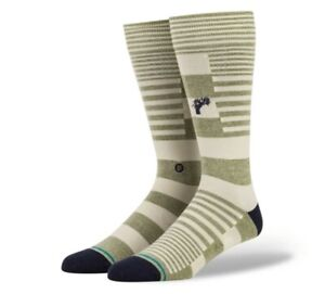 STANCE BUTTER BLEND DRESS SOCK POWER FLOWER ARMY GREEN LARGE A645A20POF AMG NWT