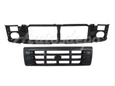 FOR 92-96 F150 F250LD BRONCO 92-97 F250HD F350 FRONT HEADER PANEL GRILLE RAW BLK