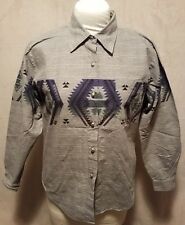 Vintage ROPER Western Shirt Men's MEDIUM Aztec Cowboy Southwestern Long Sleeve