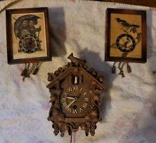 Vintage Hummel cuckoo Birds Miniature clocks movement for parts or repairs
