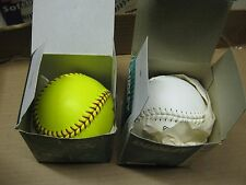 Vintage 2 pcs Dudley's Softball Yellow & White Cork Center Leather