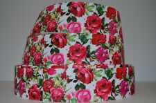 """1 yd 1.5"""" Grosgrain Ribbon Floral Flowers Roses & Peony Printed Mother's Day."""