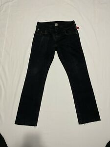 True Religion Jeans 29 Black Section Straight Flap Pockets