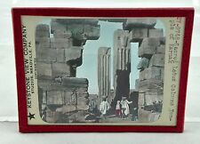 Keystone View Co. Glass Slide Color Tinted - Lotus Columns Temple Karnak #9748
