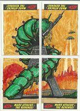 2017 Topps Mars Attacks The Revenge! - 4 Card Puzzle Sketch by Matt Steffens