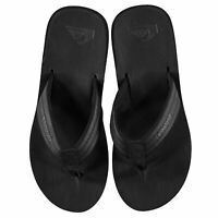 Quiksilver Mens Carver Nubuck Flip Flops Strap Toe Post Comfortable Fit
