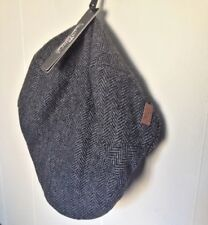 NWT Size Medium WOOL Major Wear Men's Grey Herringbone Flat Cap Hat 60% Wool NEW