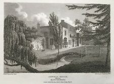 1811 Antique Print; Amwell House, Ware, Hertfordshire after Storer
