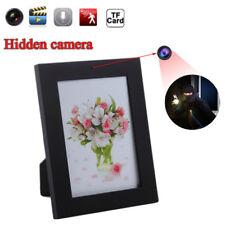Black Picture Frame Hidden Security Camera Spy Pinhole Motion Detection Recorder