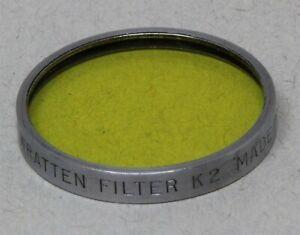Series V 5 30mm Drop-In Filter KODAK Wratten K2 YELLOW BLACK & WHITE Contrast