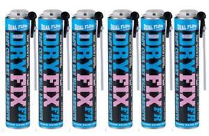 Box X 6 EverBuild Pinkgrip Dryfix Expanding Adhesive Foam 750ML Trade Grip Grab