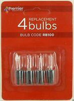 Premier RB100 3 Spare Christmas Light Bulbs Lamp + 1 Fuse
