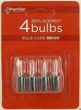 Premier RB100 3 Spare Christmas Light Bulbs Lamp 1 Fuse