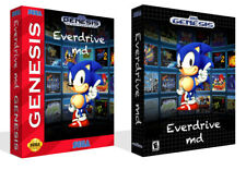 Everdrive MD Sega Genesis Replacement Game Box Case Only + Cover Art Work NoGame