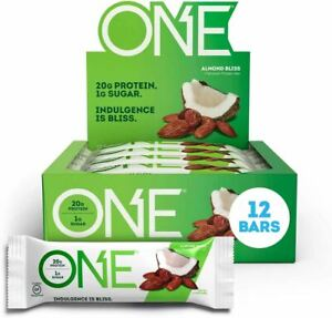 ONE Protein Bars, Almond Bliss, Gluten Free Protein Bars with 20g Protein and on