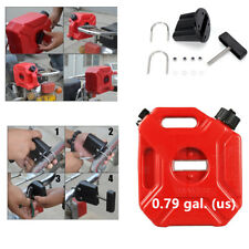3L Portable Plastic Gasoline Fuel Tank ATV Car Motorcycle Outboard Jerry Cans v
