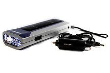 Solar LED Taschenlampe,KFZ 12V Ladegerät,5 LEDs,Akku,Lampe,Leuchte,Auto,Camping