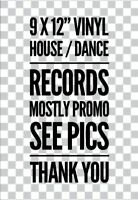 "PROMO JOBLOT STARTER  PACKS 9 X 12""  VINYL RECORDS HOUSE  EURO HIP HOP TECHNO"