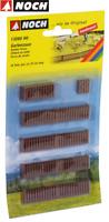 NOCH H0 13080 Gartenzaun, 18 Teile, 1,3 cm hoch - NEU + OVP