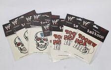 8 Packs of 3 WWF Temporary Tattoos Titan Sport 1999 Wrestling Stone Cold Austin
