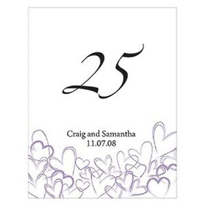 Personalized Contemporary Hearts Wedding Table Numbers