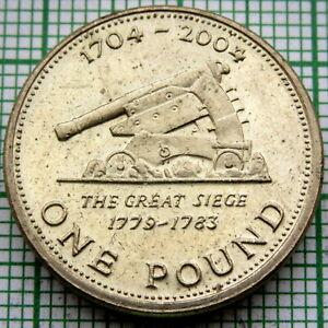 GIBRALTAR 2004 POUND, THE GREAT SIEGE, 300 yrs UNDER BRITISH RULE, AUNC