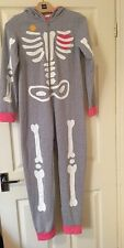 John Lewis Children's Skeleton Sleepsuit Grey and Pink 12