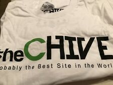 the Chive *Authentic* Long Sleeve White Mens Tee-Shirt Small S