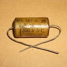 Vintage Fast Wax waxed 0.2 MFD  Axial capacitor  200V  For Valve Amps