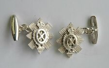 New 925 Sterling Silver BLACK WATCH Royal Highland Regiment Men's Cufflinks
