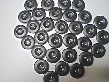 40 BLACK BUTTONS SIZE 21mm