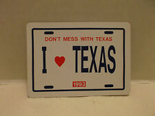 I Love Texas Don't Mess With Texas 1993 Single Deck Playing Cards Regular Index!