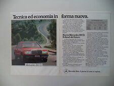 advertising Pubblicità 1984 MERCEDES 190 D