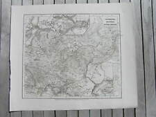 Antique Map Sarmatia Scythia intra Imaum 1850 Sarmatian Sarmatians Iran