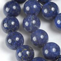 "7.5"" Strand Natural Dark Blue LAPIS LAZULI 12mm Round Beads (B Grade) ~ 15 beads"