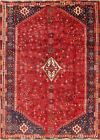 One-of-a-kind Vintage Geometric Tribal Abadeh Oriental Hand-knotted 6x9 Area Rug