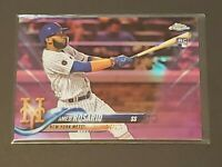 2018 Topps Chrome Update Pink Refractor Amed Rosario Rookie RC Ultra Rare Mets!