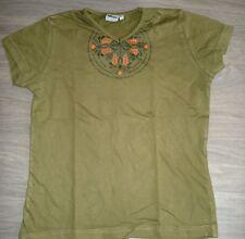 Sehr gepflegtes T-Shirt v.alive,Gr.XS,32/34,152/158,khaki vorn m.Aufdruck,100%BW