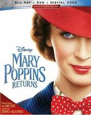 Mary Poppins Returns (Blu-ray + DVD + Digital) NEW Factory Sealed Free Shipping
