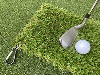 T Shot Winter Golf Mat, Practice Mat, Fairway Mat, Training Mat + Bag Clip