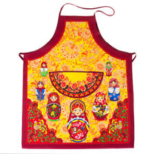 Nesting Doll Apron w/Front Pocket 100% Natural Cotton Made in Russia Matryoshka