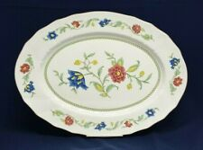 """Villeroy & Boch PERSIA Large 16"""" OVAL Scallop Serving PLATTER Floral LUXEMBOURG"""