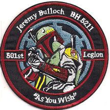 """Star Wars 4"""" Jeremy Bulloch 501st Legion Patch- FREE S&H (SWPA-KL-07)"""