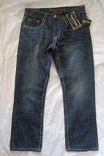 REQUEST Premium Men's 36 X 31.5* Flap Pocket Thick Stitch Regular Slim Jeans NWT