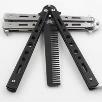 Tactical Knives Butterfly Knife Trainning Practice Comb Unsharpened Blade
