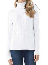 PrettyGuide Womens Sweater White Ivory Size Large L Turtleneck Mock $120 805