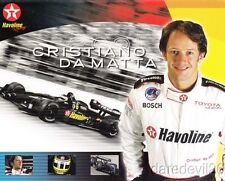 2001 Cristiano da Matta Texaco Havoline Toyota Lola CART postcard